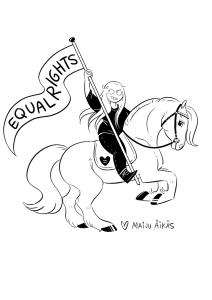 Maiju on 1992 syntynyt muunsukupuolinen queer sarjakuvapiirtäjä Etelä-pohjanmaalta, joka on pitänyt 10 vuotta Surkuhupaisaa-sarjakuvablogia. Sosiaalisesta mediasta töitä löytää instagramista ja facebookista@surkeaillustrations ja julkinen twittertili@julkisurkea!