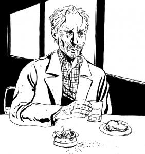 Olen Aapo Kukko, 28-vuotias sarjakuvantekijä Oulusta. Käsittelen sarjakuvissani yleensä historiallisia ja yhteiskunnallisia aiheita, joihin liittyy myös vahvoja yksilötarinoita. Töitäni löytää netistä osoitteesta aapokukko.blogspot.com ja teoksiani voi ostaa vaikkapa Turun Sarjakuvakaupasta.
