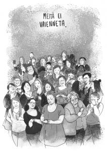 Emmi Nieminen on tamperelainen kuvataiteilija, kuvittaja ja sarjakuvataiteilija, Johanna Vehkoo on helsinkiläistynyt journalisti ja tietokirjailija. Yhdessä he loivat journalistisen sarjakuvan nettivihasta Vihan ja inhon internet (2017, Kosmos kustannus). Vihan ja inhon internet voitti vuonna 2018 Nuori Voima -palkinnon. Teos ilmestyi ranskaksi vuonna 2019. Emmi Nieminen: https://www.instagram.com/lemminiemister/ emmi.m.nieminen@gmail.com Johanna Vehkoo: https://twitter.com/vehkoo painokoneetseis@gmail.com
