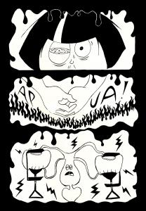 Olen Mertta Hätinen, kirjoittaja, piirtäjä ja tekijä. Onnellisen sattuman seurauksena löysin itseni Matti Hagelbergin sarjakuvakurssilta tämän vuoden tammikuussa. Tartuin tuolloin terään ja musteeseen ja ne veivät minut mennessään. Olen julkaissut sarjiksiani omassa blogissani ja IG-tililläni. https://www.lily.fi/blogit/randolfin-hipat/sarjakuva-kuolemasta/ IG:@merttamainio