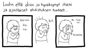 Olen piirtänyt sarjakuvablogia vuodesta 2007 ja kävin Limingan taidekoulun sarjislinja vuosina 2009-2010. Liitteen sarjakuva on alunperin julkaistu Suomen Mielenterveysseuran verkkojulkaisussa vuonna 2016.https://mieli.fi/fi/mit%C3%A4-sinulle-kuuluu/mit%C3%A4-sinulle-kuuluu-sarjakuvataiteilija-anne-lehtola Olen nyt sairastanut vakava asteista masennusta pian kaksi vuotta, ja lääkitys vei piirtämiskykyni. En ole unohtanut sarjisten piirtämistä, ja siksi olen alkanut editoimaan vanhaa tuotantoani instagramiin: https://www.instagram.com/flaxwolfcomic/ Toivoen että pystyn ensi vuonna taas piirtämään jotain uutta.