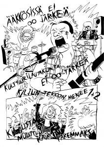 Mää oon Niko-Petteri Niva, oululainen Tampereella asuva sarjakuvataiteilija ja graafinen suunnittelija. Sarjakuvani käsittelevät usein anarkismia, pohjoista vaihtoehtokulttuuria sekä seksuaali- ja sukupuolivähemmistöjen elämää. http://instagram.com/artbynikopetteri http://facebook.com/artbynikopetteri http://nniksu.sarjakuvablogit.com http://nikopniva.wordpress.com