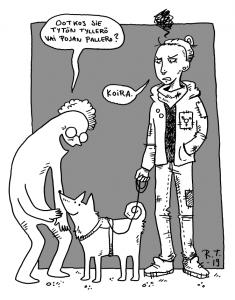 iita@jalkapuu.net simppa.sarjakuvablogit.com Oon sanoilla kikkaileva kaunosieluräyhääjä, jota kiinnostaa sarjikset, kuvittaminen ja koiran rapsuttaminen. Arki, hölmöily, radikaali rakkaus ja normien nyrjäyttäminen näkyy sisältövalinnoissa. Tuu ettiin karkkihyllyltä tai lähimmän baarin keikkalattialta, jos en vastaa sun viesteihin.